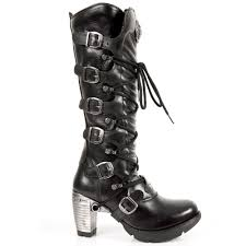 high heel motorcycle boots m tr004 s1 new rock gothic trail knee length boots