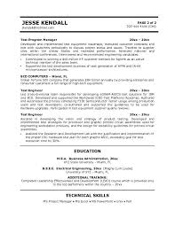 Computer Technician Resume Sample by Free Test Engineer Resume Example