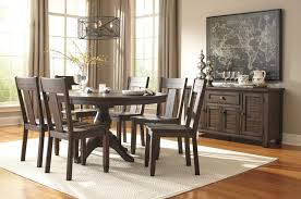 Ashley Furniture Dining Room Chairs Awesome 7 Piece Round Dining Room Set Pictures Rugoingmyway Us