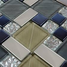 Tile Sheets For Kitchen Backsplash Crystal Glass Tile Sheets Hand Painted Kitchen Backsplash Tile