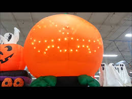 Inflatable Halloween Train by Gemmy Airblown 8 Inflatable Pumpkin With Lightshow Coming To
