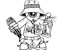 how to draw one eye gangsta with a spraycan and a marker youtube