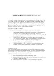 Resume Cover Letter Examples Medical Receptionist Resume Samples Visualcv Resume Samples