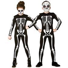 Kids Skeleton Halloween Costume by Skeleton Jumpsuit Girls Boys Halloween Skeletons Fancy Dress