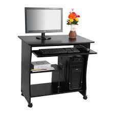 Computer Desks Black by 1pc Black Desktop Computer Table Pc Laptop Table Office