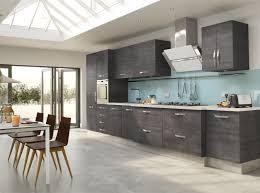 Glass Kitchen Backsplash Kitchen Grey Varnished Wood Kitchen Cabinet With Blue Glass