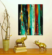 abstract home decor modern home decor art modern wall decor abstract paintings teal