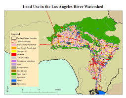 Los Angeles County Map by Los Angeles River Watershed