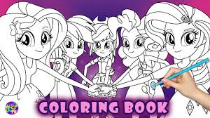 my little pony coloring book equestria girls friendship mlp