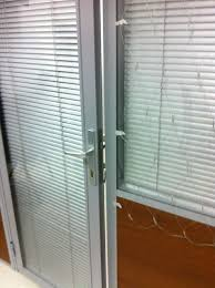 Office Door Design Aluminium Doors With Glass And Blinds