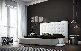 Modern Leather Bedroom Furniture Bedroom King Size White Modern Leather Upholsteered Bed Black