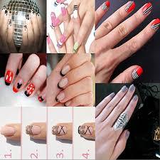 dancingnail 5 x metal heads acrylic nail art tips flower line