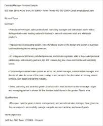 Area Sales Manager Resume Sample by Free Manager Resume Templates 40 Free Word Pdf Documents