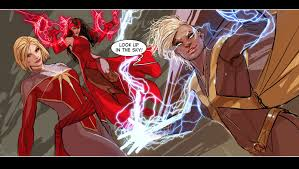 scarlet witch costume comics look up in the sky by nebezial on deviantart