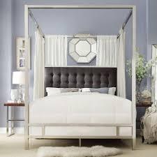 homesullivan taraval chrome queen canopy bed 40e739bq 1dglcpy