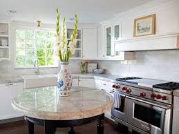 functional and beautiful kitchen with round kitchen island u2014 smith