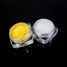 1g mirror powder metallic silver gold pigment nail glitter nail