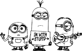 minion coloring pages 4310 kevin minion coloring pages coloringpin