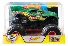 monster truck show discount code amazon com wheels monster jam 1 24 scale dragon vehicle toys