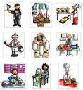 Clip Art : อาชีพต่าง ๆ [Career] v1 | Little English with Kru_Ni [