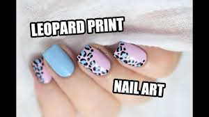 how to leopard print nail art marine loves polish youtube