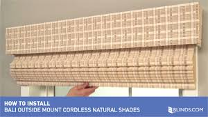 how to install bali cordless natural woven wood shades outside
