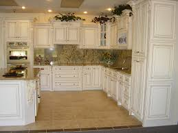 Furniture Style Kitchen Cabinets Antique White Kitchen Cabinets For Terrific Kitchen Design Amaza