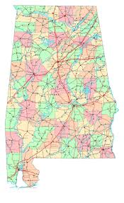 Map Of The Usa by Large Detailed Administrative Map Of Alabama State With Roads