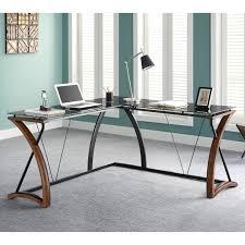 Computer Desks Black by Z Line Khloe L Shaped Computer Desk Espresso Hayneedle
