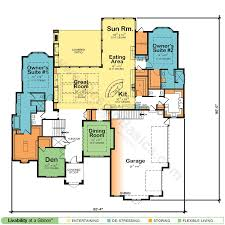 house plans with two owner suites design basics dual owner s suite home plan