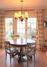 sliding glass door curtain ideas love the country chairs and the