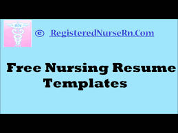 rn resumes examples nursing resume template free web resources find this pin and more how to create a nursing resume templates free resume templates for nurses youtube free rn
