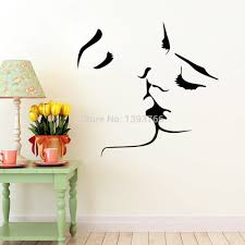 sticker decor wall decal couple kiss wall stickers home decor 8468 wedding decoration wall