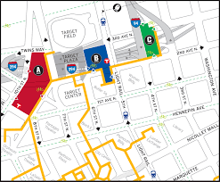 Chicago Parking Map by Directions And Parking Minnesota Timberwolves