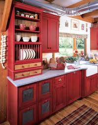 Kitchen Cabinets Plate Rack Kitchen Design Red Country Kitchen Design With Open Shelves And