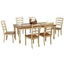 Martha Stewart 7 Piece Patio Dining Set - robins lane 7 piece turned leg table and ladderback chair set