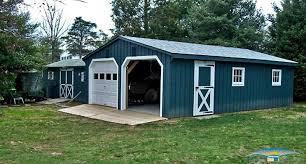 2 car prefab garages prefab two car garage horizon structures