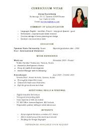 how to write a resume for high school student   Template happytom co