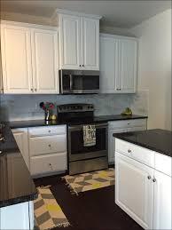 kitchen orange l shape kitchen cabinet black pearl granite vs