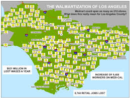Los Angeles County Map by Terrifying New Map Shows Walmart U0027s Anticipated Growth In L A