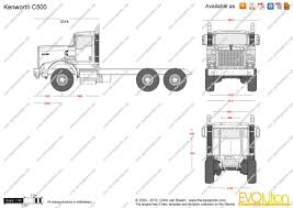 kenworth c500 the blueprints com vector drawing kenworth c500