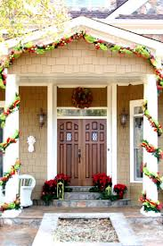 astounding front porch christmas decorations applying red green