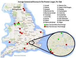 Liverpool Ny Map Epl Vs Nfl Commercial Revenue Business Insider