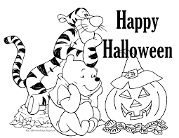 winnie the pooh halloween coloring pages getcoloringpages com