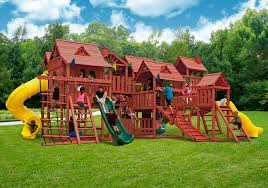 Cedar Playsets Furniture Gorilla Playsets Mountaineer Deluxe Wooden Swing Set