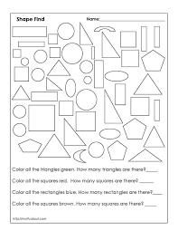 First Grade Geometry Worksheets Worksheet       D Russell
