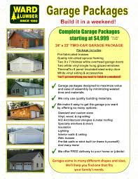 Two Car Garage Size by Ward Lumber