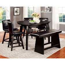 Counter Height Dining Room Tables by Furniture Of America Rathbun Modern 6 Piece Counter Height Dining