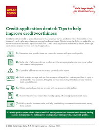 Small Business Secured Credit Card Credit Application Denied Tips To Help Improve Creditworthiness