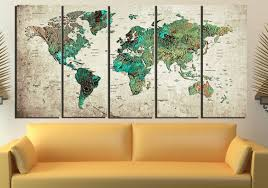 World Map Canvas by World Map Abstract World Map Wall Art World Map Art World Map